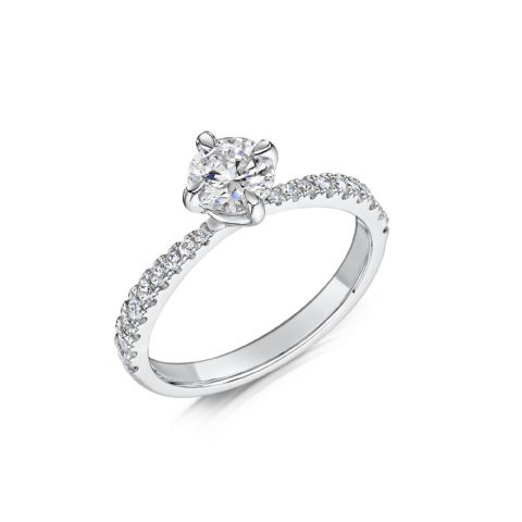 0.53 Carat GIA GVS Diamond solitaire Platinum Round brilliant twist Engagement Ring MPSS-1209/033